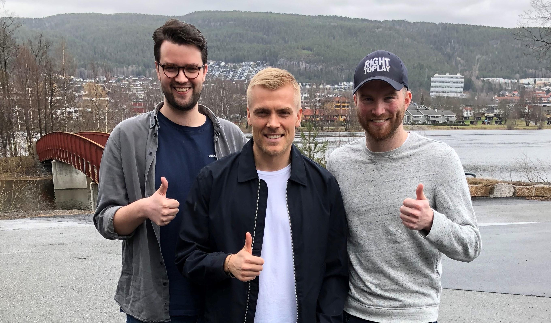 Eirik Ulland Andersen sammen med Christian Gilsvik og Ole Jørgen Wiig