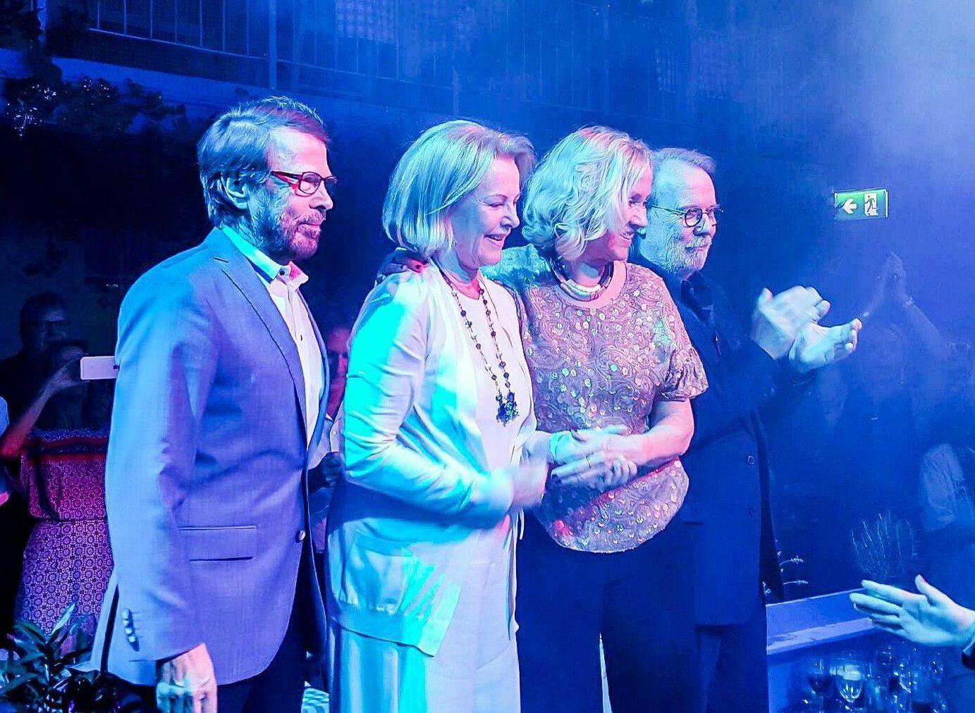 Den svenske gruppen abba under en gjenforening i 2016