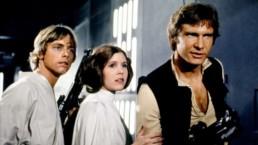 Luke Skywalker, Leia Organa og Han Solo fra Star Wars-filmene
