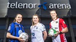 Heidi Ellingsen fra Stabæk Fotball, Sigrid Heien Hansen fra Koltbotn og Joanna Bækkelund fra Lyn